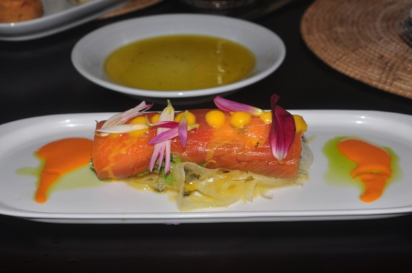 Wasabi Cured Salmon Roll Asian Fusion Josselins
