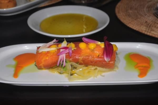 Wasabi Cured Salmon Roll Asian Fusion Josselins