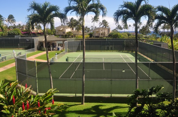 Poipu Kai Tennis Club has well maintained courts with ocean view