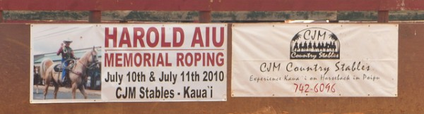 rodeo memorial roping barrel racing kauai horses south shore