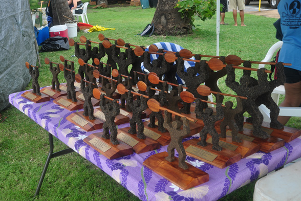Kilohana Race Trophies - Photo by Ray Gordon