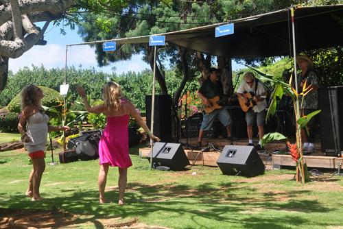 Dancing to Music at Taste of Hawaii