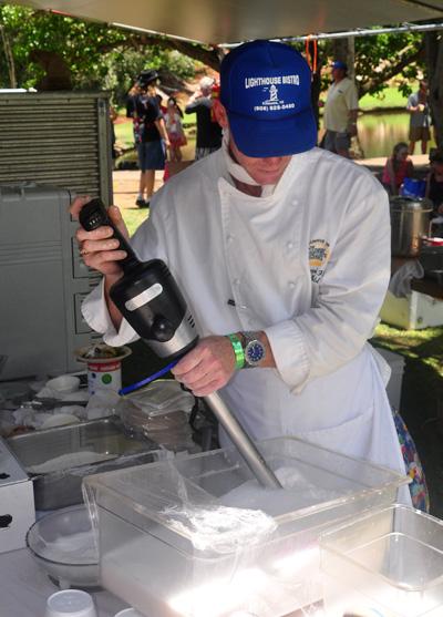 Lighthouse Bistro Foam Maker at Taste of Hawaii