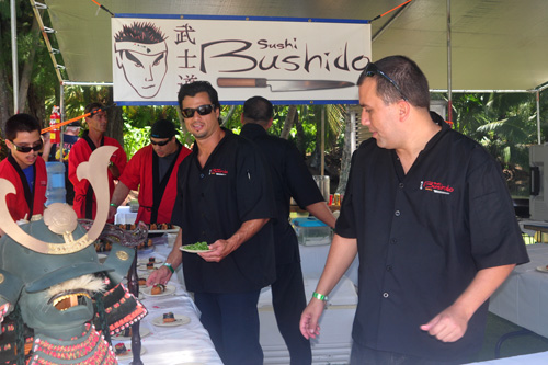 Sushi Bushido Serving Sushi at Taste of Hawaii
