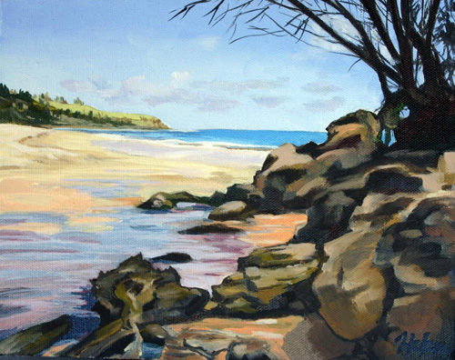 Moloaa Bay oil by Helen Turner