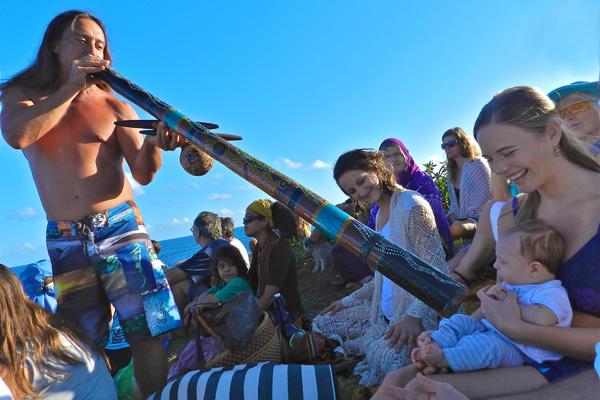 John Dumas Focuses Didgeridoo on Baby