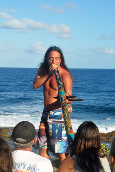 sound healing the crowd at celebration of the whales