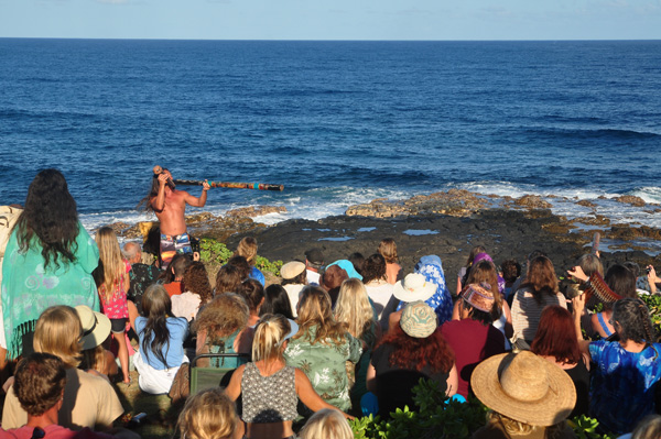 The crowd at Celebration of the Whales
