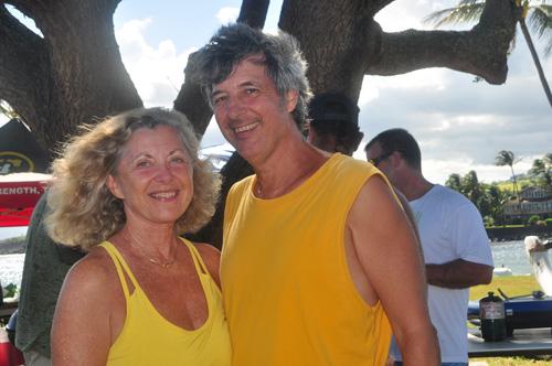 Linda Sherman and Ray Gordon Paddling Party