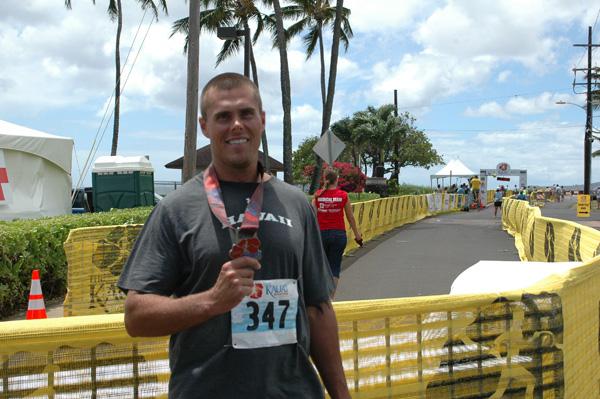 Aaron Ricks number 347 is the Marathon finisher that you saw in the Kapaa High School CheerLeaders video