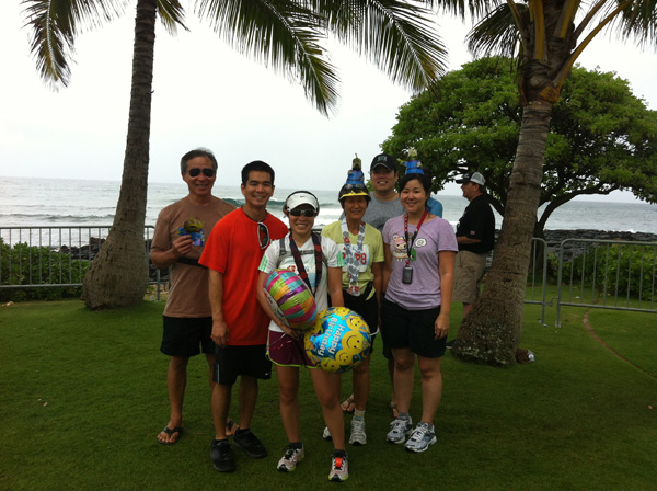 Group Celebrating Birthday dresses up for Kauai Marathon