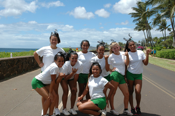 Kapaa High School Cheerleaders Kauai Marathon 2012