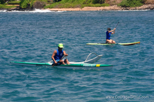 Tim Cochay of Kukuiula on OC1 at Paddle Fest photo by Ray Gordon