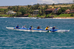 Kukuiula Outrigger Club Men Arriving Paddle Fest 2013 - Photo by Ray Gordon