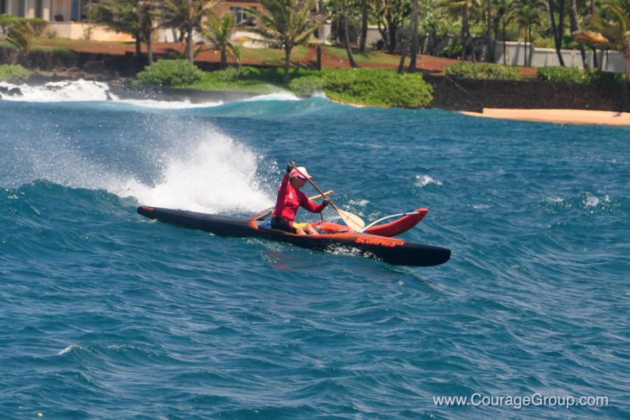 Black Scorpius OC-1 Surfing In