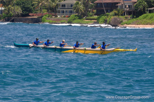 Winners Overall 6 Man Outrigger Canoe Hanalei Paddle Fest Kauai 2013 - Photo by Ray Gordon
