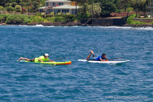 SUP Riders After Surfing Into Kukui'ula Harbor