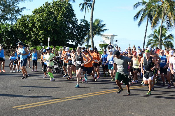 10K Start Family Fun Run photo by Ray Gordon Koloa Plantation Days