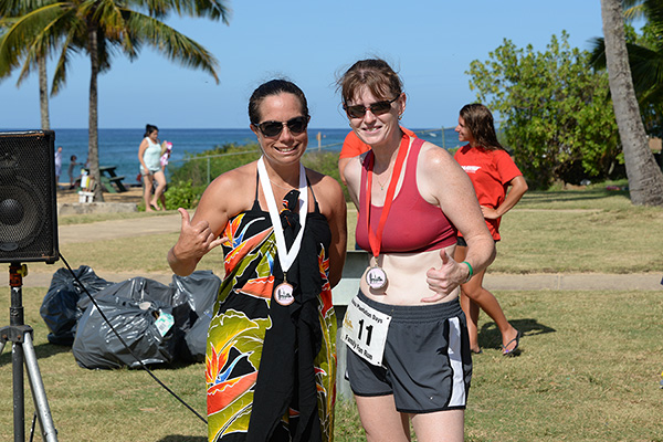 10k women winners photo by Ray Gordon Family Fun Run Koloa Plantation Days
