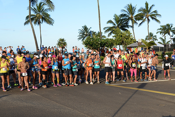 10 Mile Start photo by Ray Gordon Koloa Plantation Days Family Fun Run