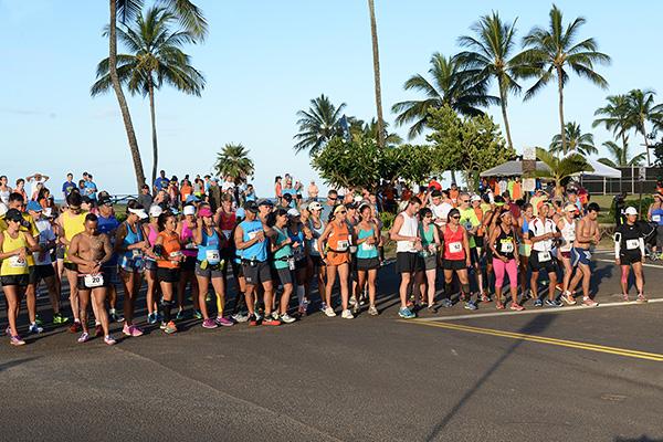 10 Mile Start photo by Ray Gordon Koloa Plantation Days Family Fun Run