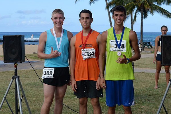 5k men winners photo by Ray Gordon Family Fun Run Koloa Plantation Days