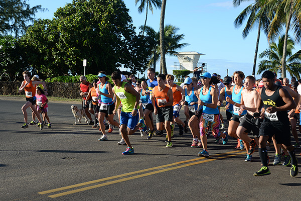 5K start photo by Ray Gordon Family Fun Run Koloa Plantation Days