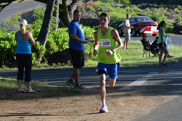 5K winner, Ryan Perez, photo by Ray Gordon Family Fun Run Koloa Plantation Days