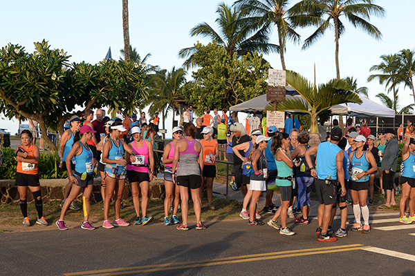 pre-race photo by Ray Gordon Koloa Plantation Days Family Fun Run
