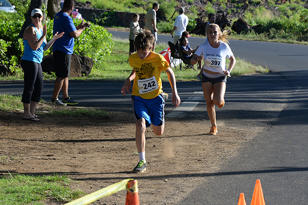 teen finisher photo by Ray Gordon Family Fun Run Koloa Plantation Days
