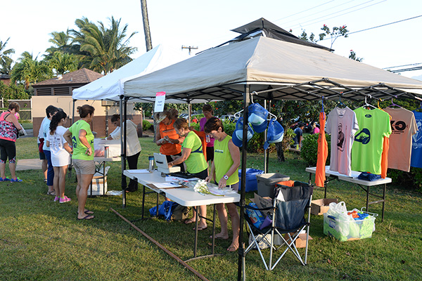 tent photo by Ray Gordon Koloa Plantation Days Family Fun Run