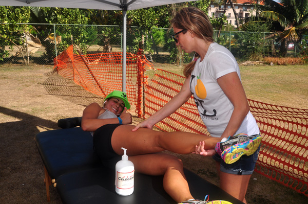Massages for Racers Koloa Plantation Days 2013 by Ray Gordon