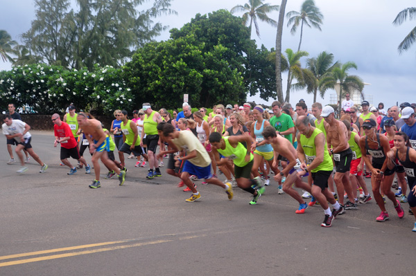 Race Start Go Koloa Plantation Days Family Fun Run by Ray Gordon