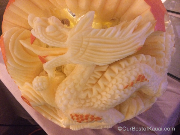 Dragon image carved from a pumpkin photo by Linda Sherman
