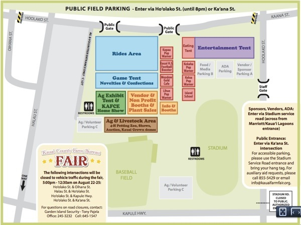 Kauai County Farm Fair 2014 Map