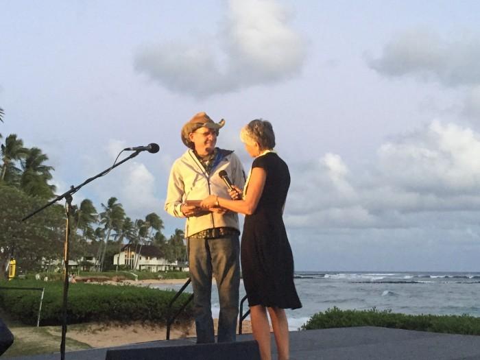 Aloha Vet, Doctor Scott Sims with Penny E. Cistaro, Executive Director Kauai Humane Society