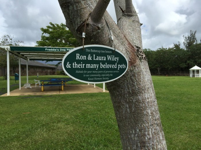 Ron and Laura Wiley honored at the Kauai Humane Society for long years of generous support