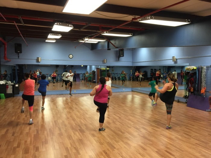 Johnny Yago leading BodyCombat photo by Linda Sherman at Kauai Athletic Club