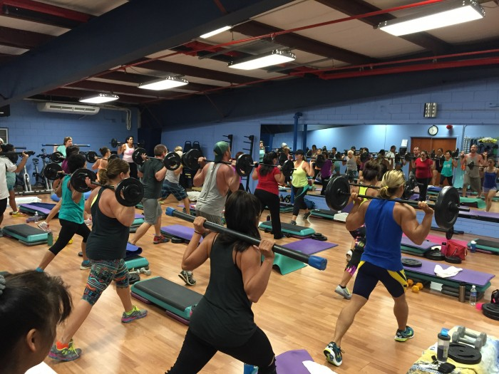 KAC Kim Stuck Body Pump photo by Linda Sherman Kauai Athletic Club