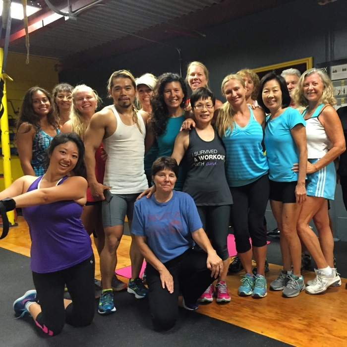 Natalie Senyk class group shot Kauai Athletic Club