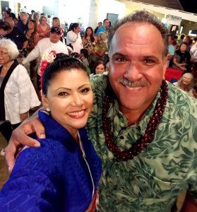 Bon Festival Kauai Tammy Miyazaki Puu with Mayor Bernard Carvalho
