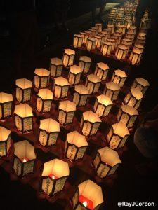 Toro Paper Lanterns are Lit Kauai Toro Nagashi photo by Ray Gordon